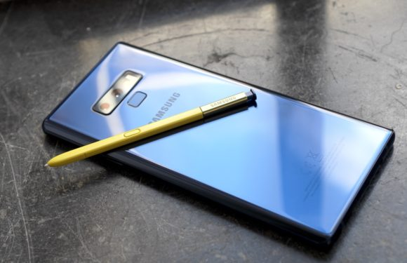 Samsung Galaxy Note 9 blue blauw
